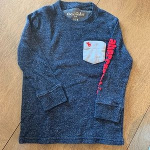 🏇🏼 2 for $20 Abercrombie Kids Blue Thermal 3/4